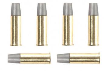 Ersatzhülsen für Schofield Revolver, 6 Stück.