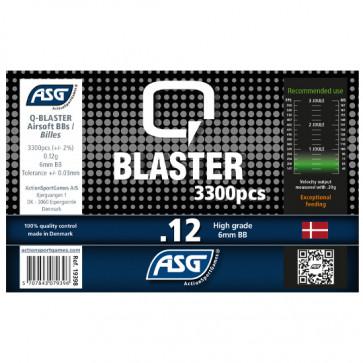 0,12g Q Blaster Softair BB´s- 3300er Flasche weiss