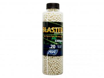 Blaster Tracer BBs 0,20g 3300er Flasche, weiss