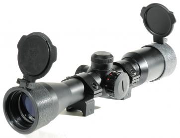 Swiss Arms 4 x 32 Zielfernrohr mit Zielkreuzbeleuchtung und Montage.