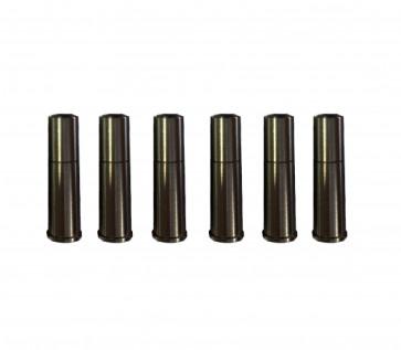 3 Schuss Ersatzhülsen für Dan Wesson und Colt Python.
