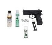 "Softgun Gas/CO2  pistol CZ 75D Compact  ""GO FOR IT"" pakke tilbud."