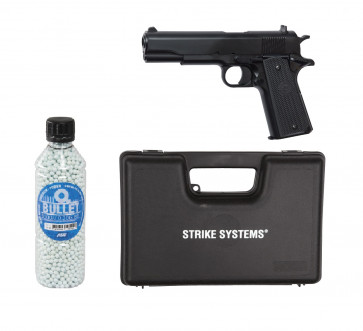 "Softgun manuel pistol STI M1911 Classic ""GO FOR IT"" pakke tilbud."