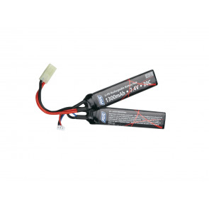 Softair Li-Po Akku 7,4V 1300mAh -25C- Two-Panel.