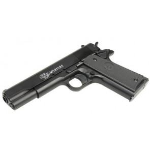 Softair Pistole Colt 1911 A1 mit Metallschlitten.