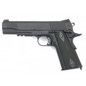 Softair CO2 Pistole Colt 1911 Rail Gun, Blowback.