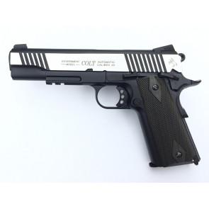 Softair CO2 Pistole Colt 1911 Rail Gun - Dual Tone, Blowback.