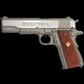 Softair CO2 Pistole Colt 1911 Rail Gun - Stainless, Blowback.
