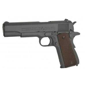 Softair Vollmetall Pistole COLT 1911 A1 mit Parkerized Grau Finish, CO2 Blowback.