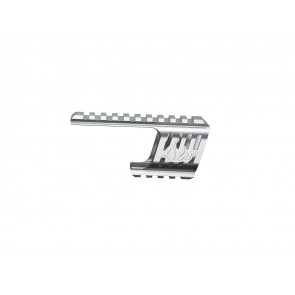 Custom CNC 21mm Aluminium Rail Montage f. Dan Wesson 715 Revolver Serie, Silber.