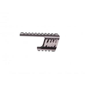 Custom CNC 21mm Aluminium Rail Montage f. Dan Wesson 715 Revolver Serie, Steel Grey