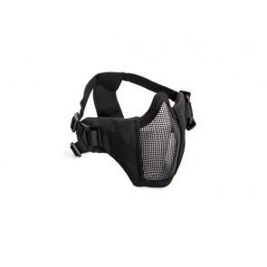 Schwarz Metall mesh Maske mit cheek pads.