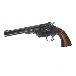 "Softair Vollmetall Schofield 6"" Revolver, Aging Black, CO2."