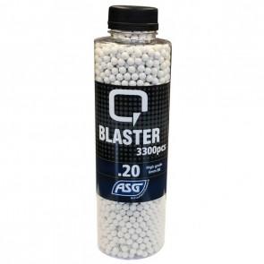 0,20g Q Blaster Softair BB´s- 3300er Flasche weiss