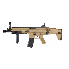 FN SCAR-L Federdruck-Gewehr in Tan.