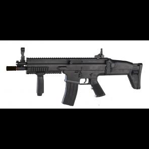FN SCAR-L Federdruck-Gewehr in schwarz.