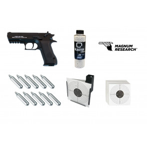 "Softgun CO2 pistol Baby Desert Eagle ""GO FOR IT"" pakke tilbud."