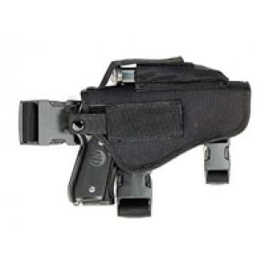 Thigh holster, black.