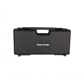 Plasticbox 9x23x46 cm, black.