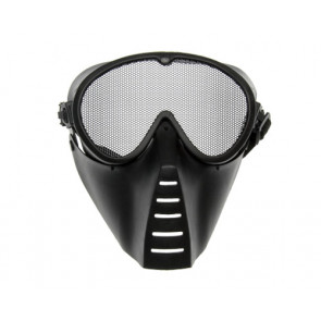 Grid mask, black.