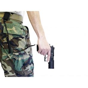 Pistol lanyard - black.