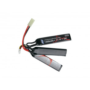 Softair 11,1V LI-PO Battery 1300 mAh.