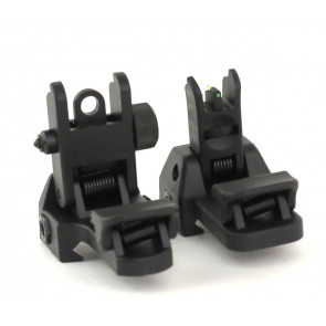 Detachable front and rear flip-up sight