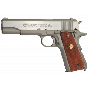 Softair CO2 pistol Colt 1911 Rail Gun - Stainless, blowback.