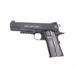 Airsoft CO2 pistol Colt 1911 Combat Unit Rail Gun, blowback.