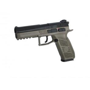 Airsoftpistol, GBB, MS, CZ P-09 incl. case, Dualtone.