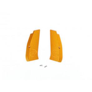 Grip shells, Orange alu, CZ logo, CZ SP-01 Shadow.