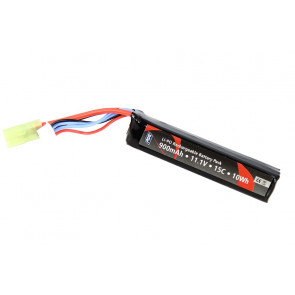 Airsoft Li-PO Stock Tube battery, 11,1V-900mAh-15C Tamiya connector