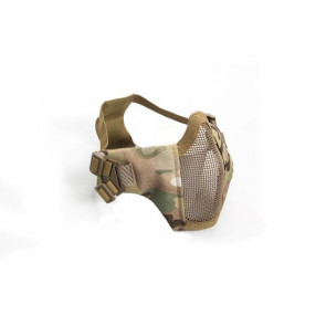Multicam metal mesh mask with cheek pads