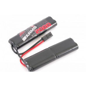 9,6v 2000 mAh Twin Leg for AEG guns.