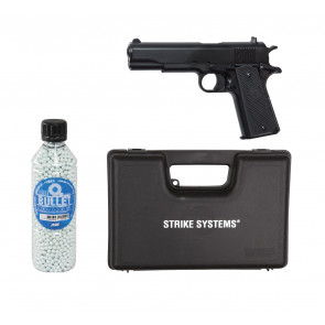 """Softgun manuel pistol STI M1911 Classic """"GO FOR IT"""" pakke tilbud."""