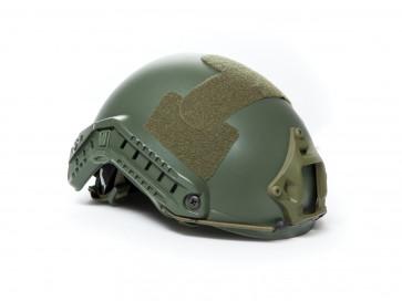 Strike Systems Fast hjelm med rail og velcro – OD Grøn.