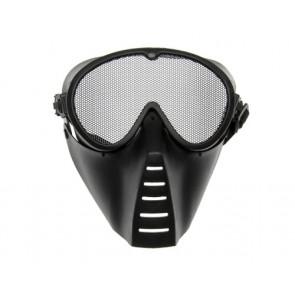 Gittermaske, sort.