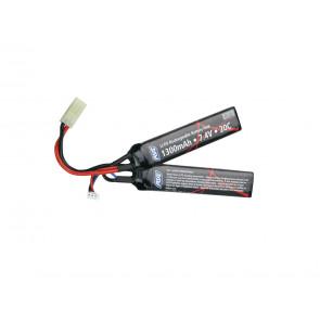 Softgun Li-Po 2 delt batteri, 7,4V-1300mAh-25C
