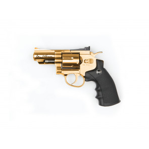 "Softgun CO2 revolver Dan Wesson 2,5"" i guld."