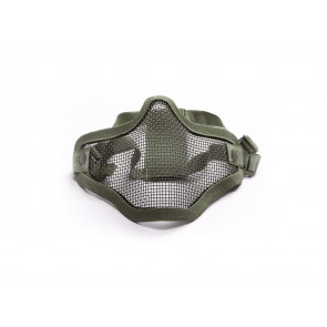 Oliven grøn halvmaske i metal.