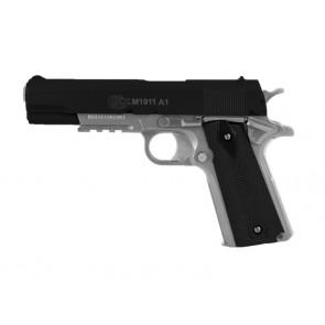 Softgun/Airsoft pistol Colt 1911 A1 med metalslæde, sort/sølv