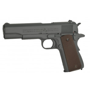 Softgun Metal pistol COLT 1911 A1 med Parkerized grå finish, CO2 Blowback.