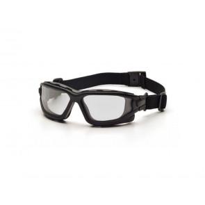 Tactical  sikkerhedsbrille med anti-dug klar termoglas.