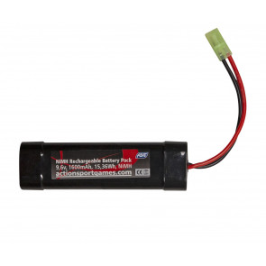 Airsoft/softgun Batteri 9,6V 1600 mAh NiMH, Mini Type, Tamiya