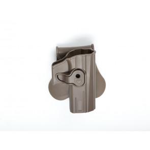 Formstøbt Polymer hylster med quick release til CZ P-07 og CZ P-09, TAN