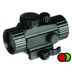 Swiss Arms rød/grønpunktsigte i metal med Quick Detach og lines beskytter.