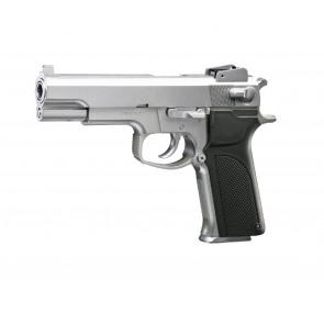 Softgun manuel pistol M4505 fra KWC, Sølv