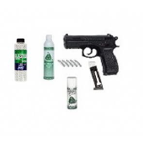 "Softgun Gas/CO2  pistol CZ 75D Compact  ""GO FOR IT"" pakke tilbud."